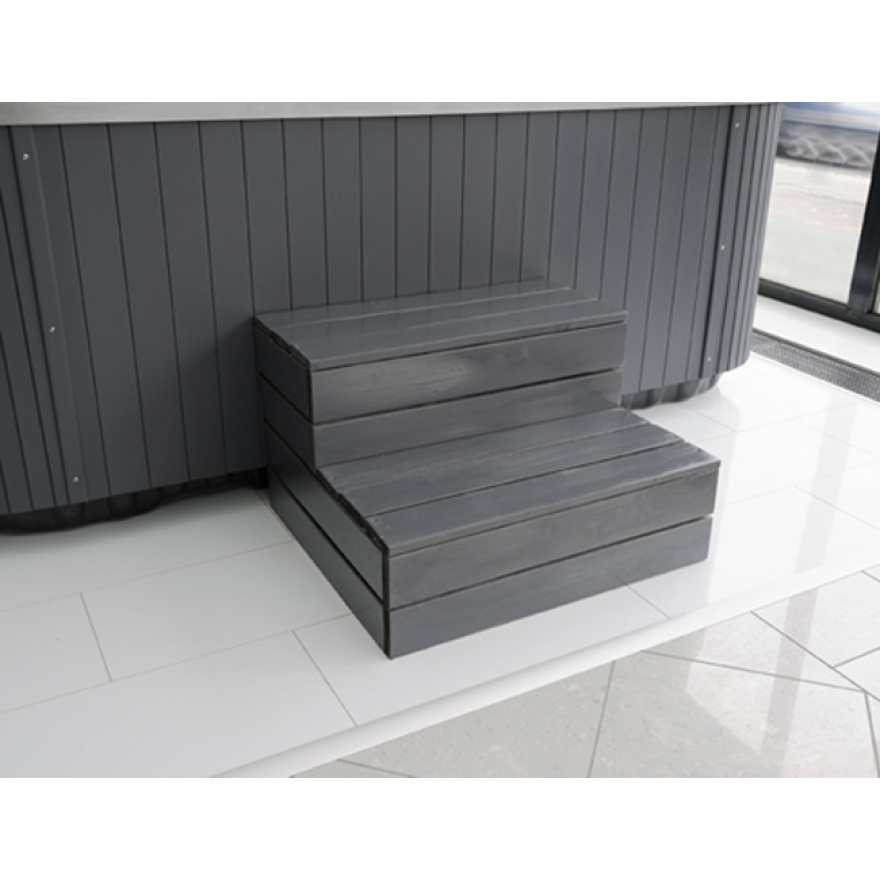 Whirlpool zubeh r holztreppe grau treppen jacuzzi for Holztreppe grau lackieren